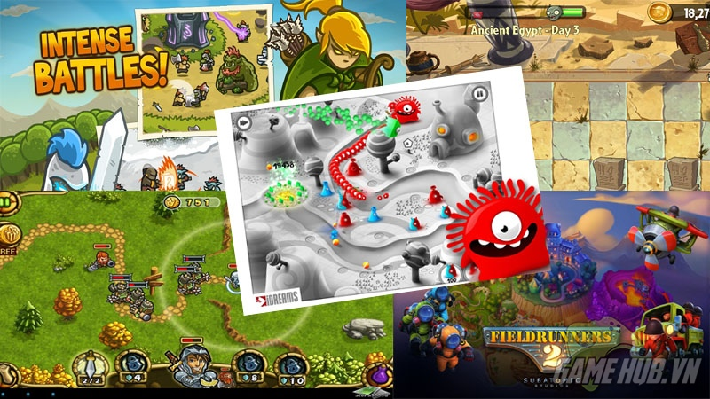05 game mobile Tower Defense nổi tiếng dành cho game thủ