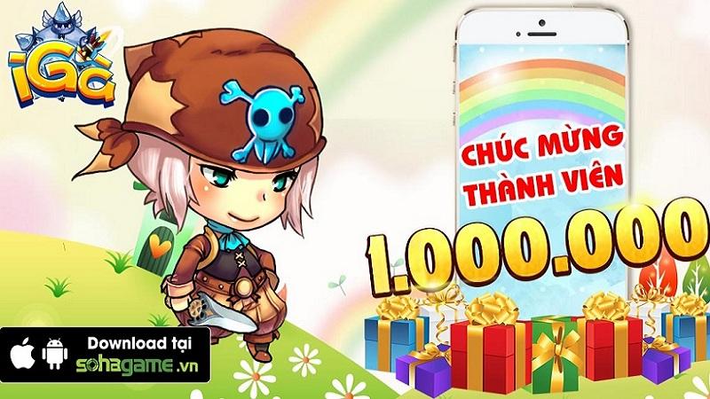 iGà chính thức chào đón thành viên thứ 1.000.000