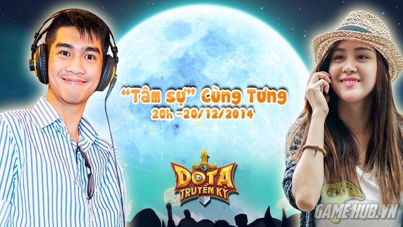 Pewpew và Bà Tưng cùng lên sóng quảng bá DoTa Truyền Kỳ