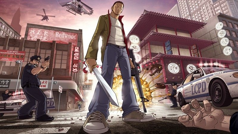 Grand Theft Auto Chinatown Wars, Grand theft auto, Rockstar games, game hanh dong, game ban sung, game the gioi mo, open world game, action game, Android, iOS, game hay, Grand Theft Auto Vice City, Link tai, link download, tai game, tai game mien phi, Cel shading, Review