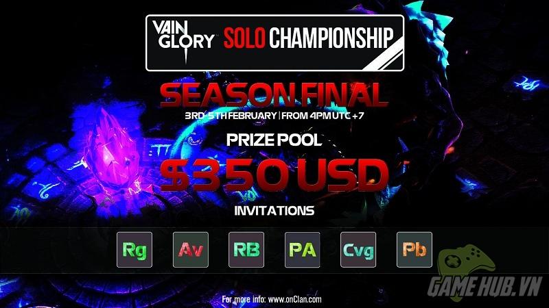 Giải  đấu Vainglory Solo Championship chính thức mở đăng ký