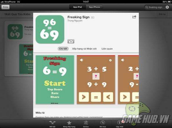Freaking Sign - Game dễ nghiền, đối thủ tiềm năng Freaking Math