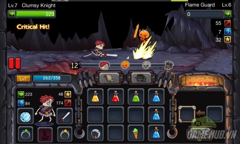 Clumsy Knight vs Skeletons - Cuộc chiến đấu của hiệp sĩ xấu xí và bộ xương di động