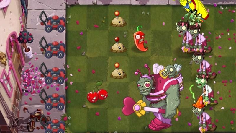 Plants vs Zombies 2 - Update Valentine theo phong cách xác sống