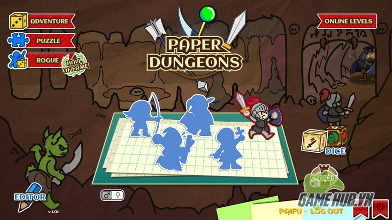 Paper Dungeons - Chiến binh giấy