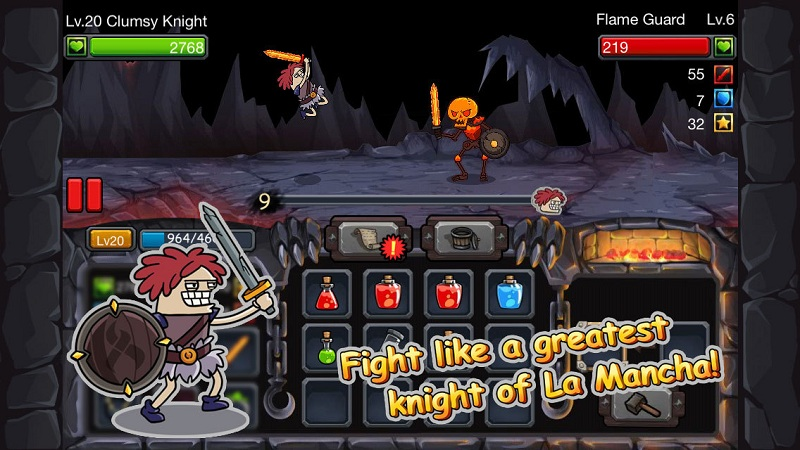Clumsy Knight vs Skeletons - Trợ lực hiệp sĩ, diệt cốt tinh - iOS