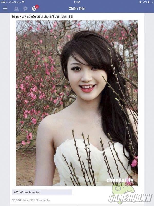 Hot girl bí ẩn khuynh đảo hàng triệu trái tim game thủ ngày 8/3