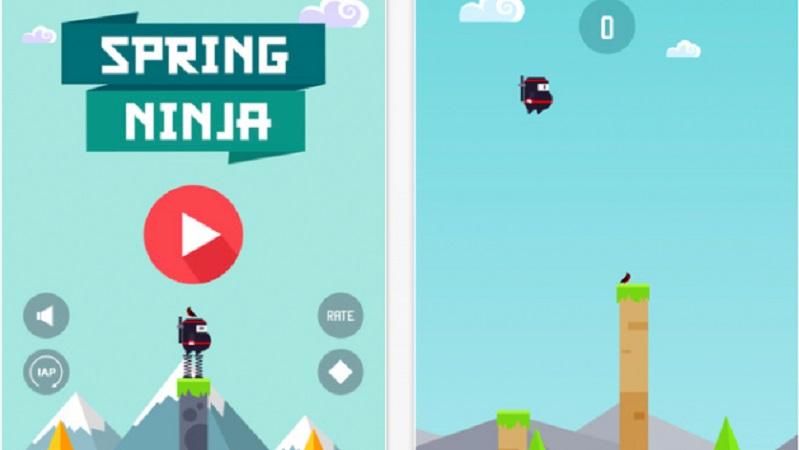 Spring Ninja - Ninja bụng béo nhảy lò xo - iOS/Android