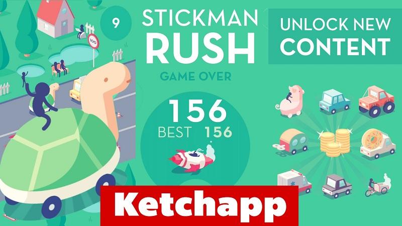 Stickman Rush - Trổ tài lái xe, lạng lách trên đường - iOS/Android