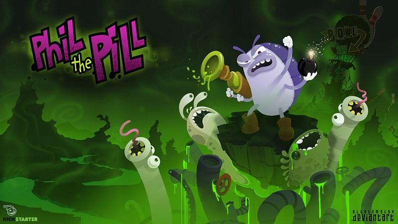 Phil the Pill - Game phiêu lưu đường hầm cùng bọ chét - iOS