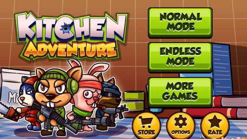 Kitchen Adventure 3D - Game hành động, bắn phá thức ăn - Android