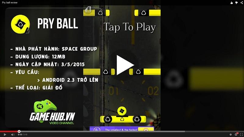 PryBall - Game Việt tung bóng lọt khe cực khó - Android