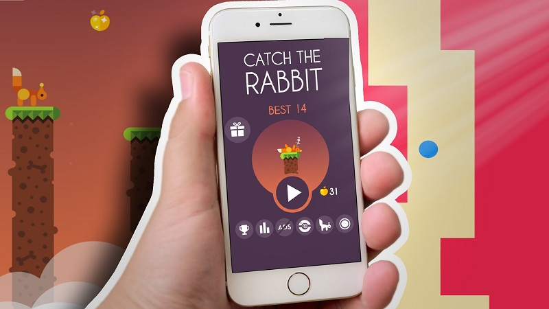 Catch The Rabbit - Game sóc nhảy cột bắt thỏ - iOS/Android