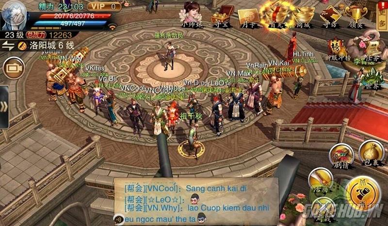 Cộng đồng game thủ Việt 'gây bão' Tiếu Ngạo Giang Hồ 3D Mobile Trung Quốc