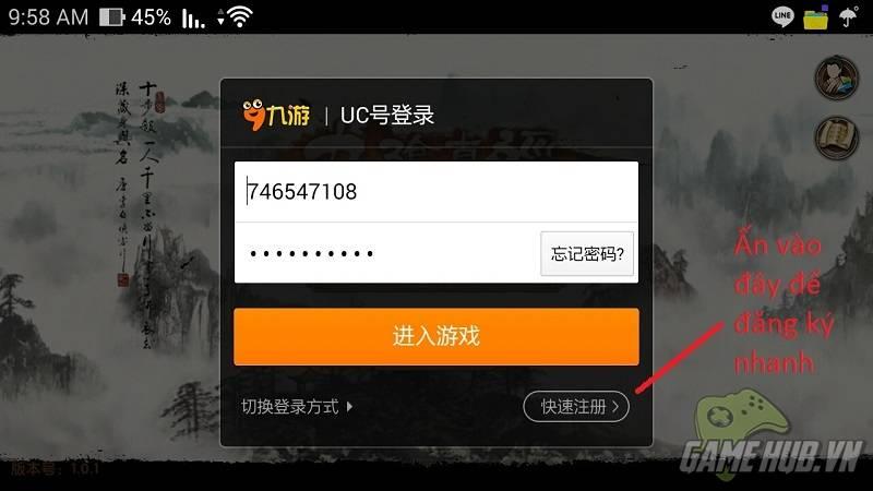 [Cập nhật 26/7] Hướng dẫn Download và Đăng ký tài khoản Cửu Âm Chân Kinh ...