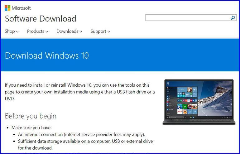 media creation tool windows 10 usb