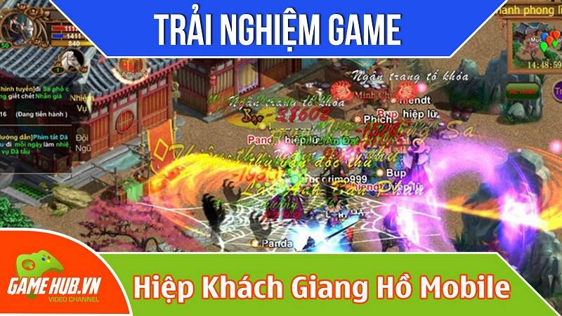 Trải nghiệm game Hiệp khách Giang hồ mobile ra mắt 16/10/2015 - Miki Entertainment