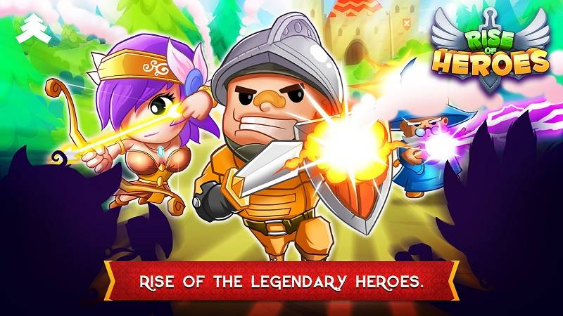 Rise of Heroes, Pine Entertaiment, game hay, game hot, download, tai game, tai mien phi, ios, rpg, chibi, aya