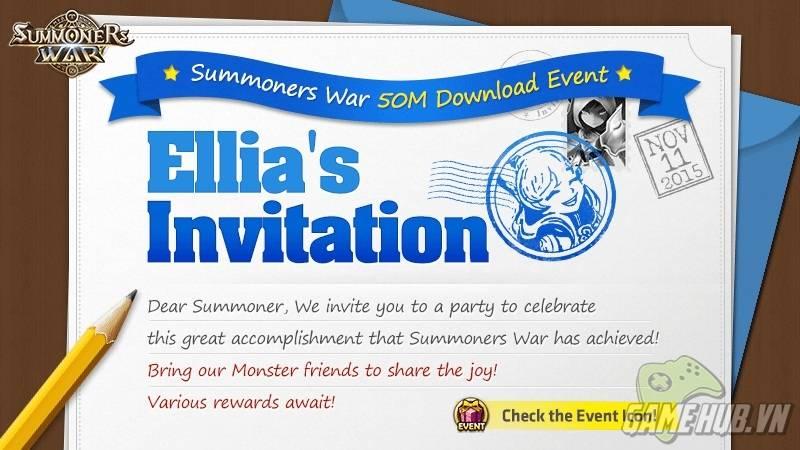 Summoners War tung sự kiện khủng nhân dịp đạt mốc 50 triệu lượt tải