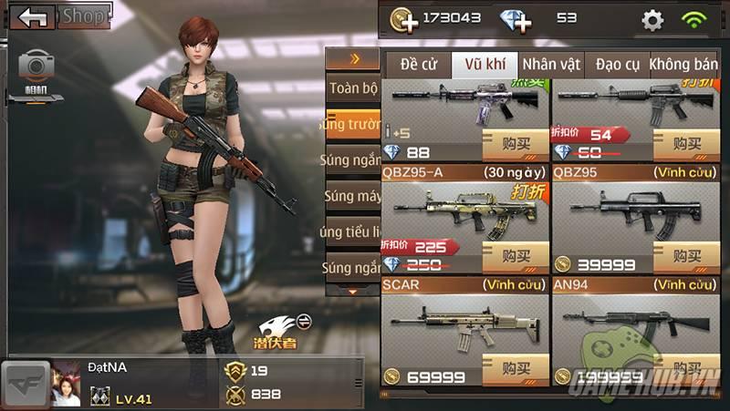 Hướng dẫn cách kiếm vũ khí trong CF Mobile
