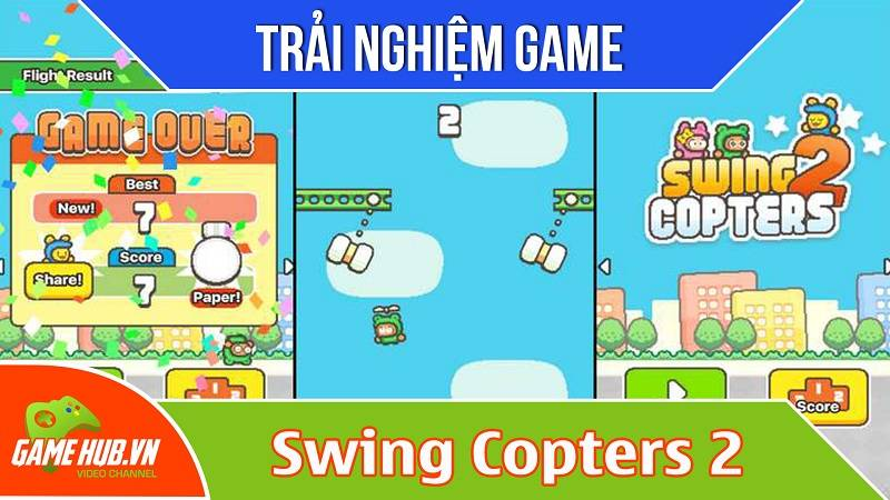 Trải nghiệm game Swing Copters 2 - iOS/Android