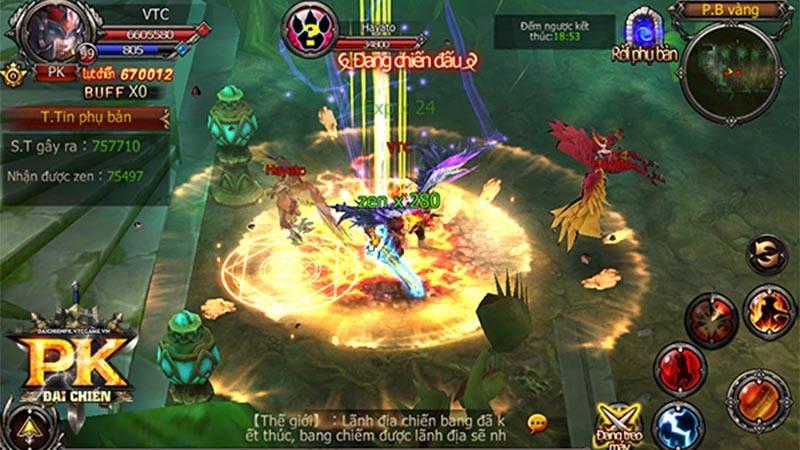 vtc game sắp ra mắt game mobile Đại chiến pk