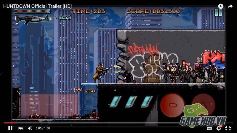 Huntdown - Game bắn súng điên cuồng đúng chuẩn bốn nút - ảnh 2