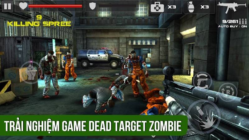 Trải nghiệm game Dead Target Zombie của VNG...