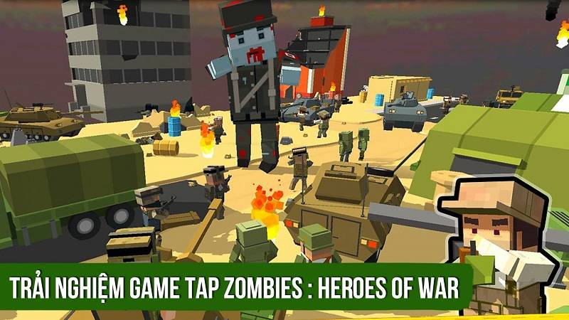 Trải nghiệm game Tap Zombies: Heroes of War