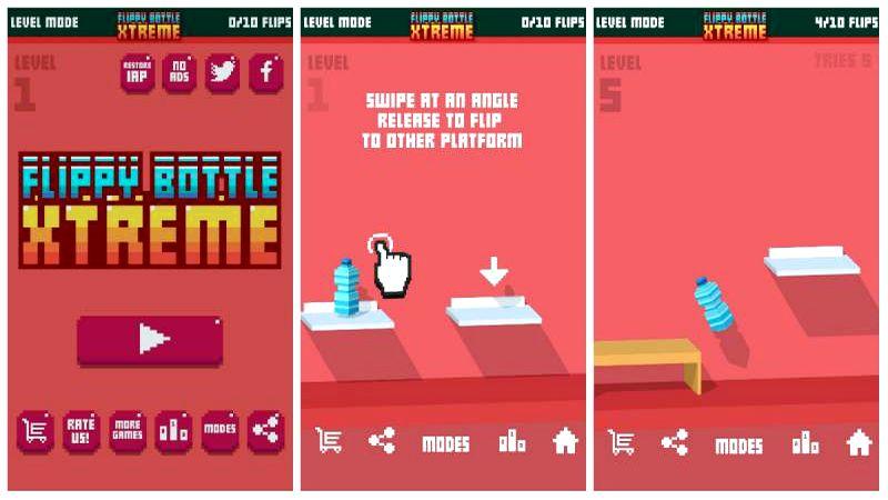 Flippy Bottle Extreme - Game khó điên rồ cán đổ một loạt kho tải thế giới