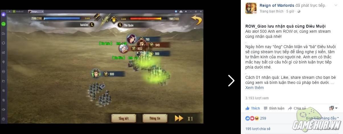 Reign of Warlords - Lần đầu tiên ban điều hành giao lưu với game thủ
