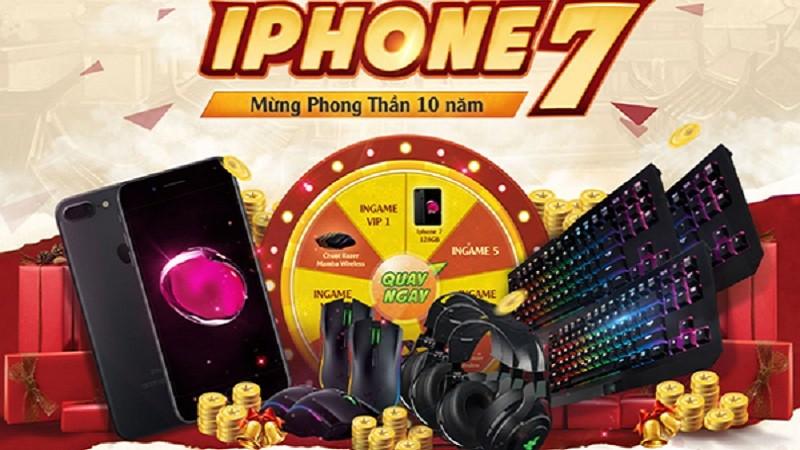 Phong Thần bất ngờ tri ân game thủ với iPhone 7