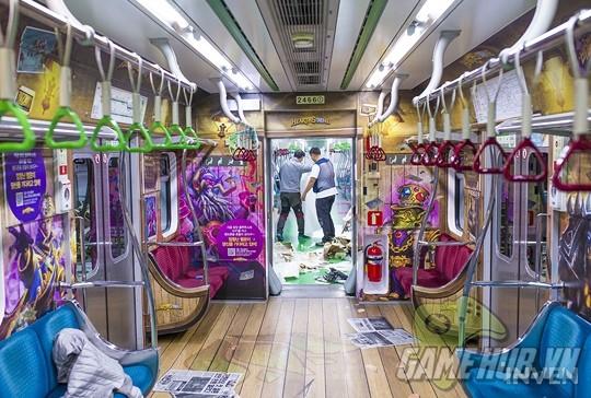 Hàn Quốc cực chịu chơi khi thiết kể hẳn chuyến tàu điện Hearthstone - ảnh 11