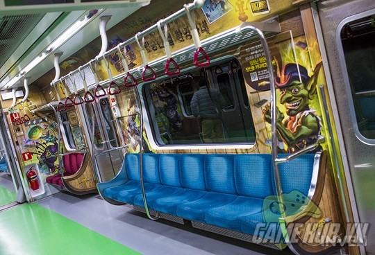 Hàn Quốc cực chịu chơi khi thiết kể hẳn chuyến tàu điện Hearthstone - ảnh 13