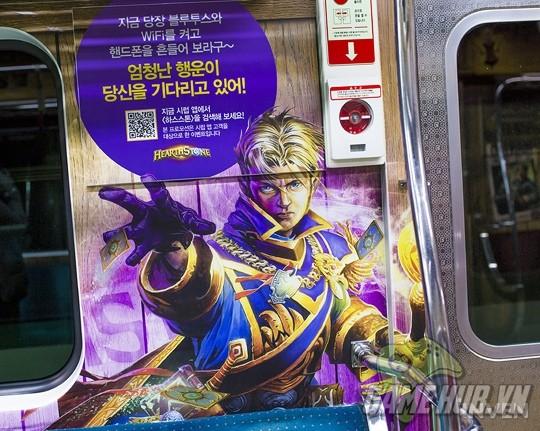 Hàn Quốc cực chịu chơi khi thiết kể hẳn chuyến tàu điện Hearthstone - ảnh 15