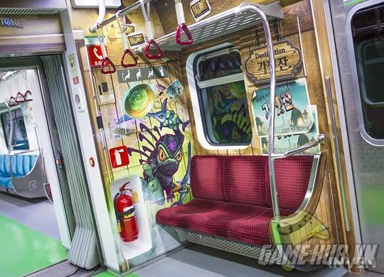 Hàn Quốc cực chịu chơi khi thiết kể hẳn chuyến tàu điện Hearthstone - ảnh 2