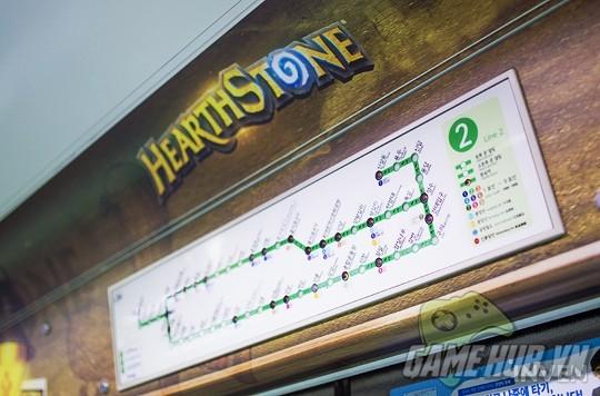 Hàn Quốc cực chịu chơi khi thiết kể hẳn chuyến tàu điện Hearthstone - ảnh 6