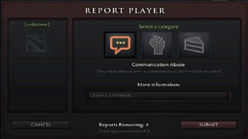 Hệ thống hình thức xử phạt và report trong Dota 2 - ảnh 1