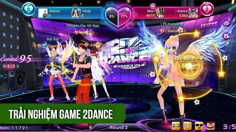 Trải nghiệm game 2! Dance - AIVO Mobile