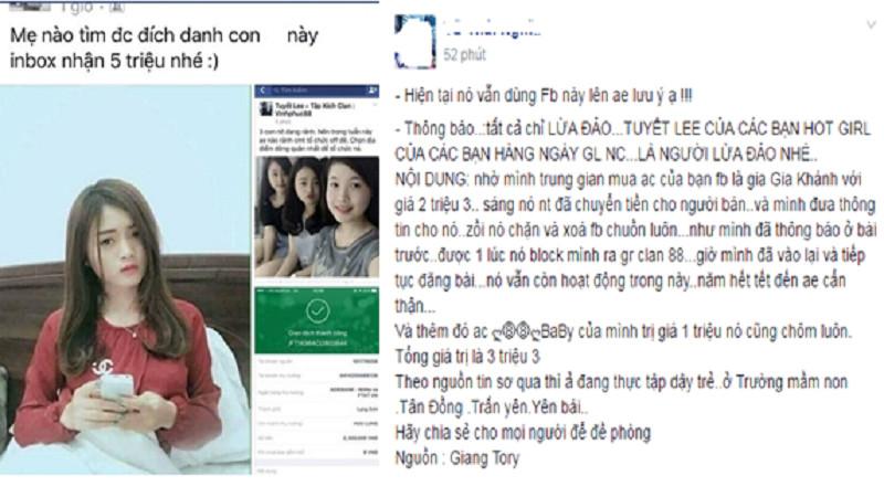 Hot girl Tập Kích Tuyết Lee bị truy lùng vì tội lừa đảo