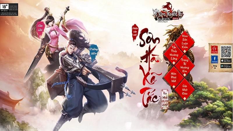 Võ Lâm Truyền Kỳ Mobile - Sơn Hà Xã Tắc sẽ ra mắt ngay tháng 1/2017