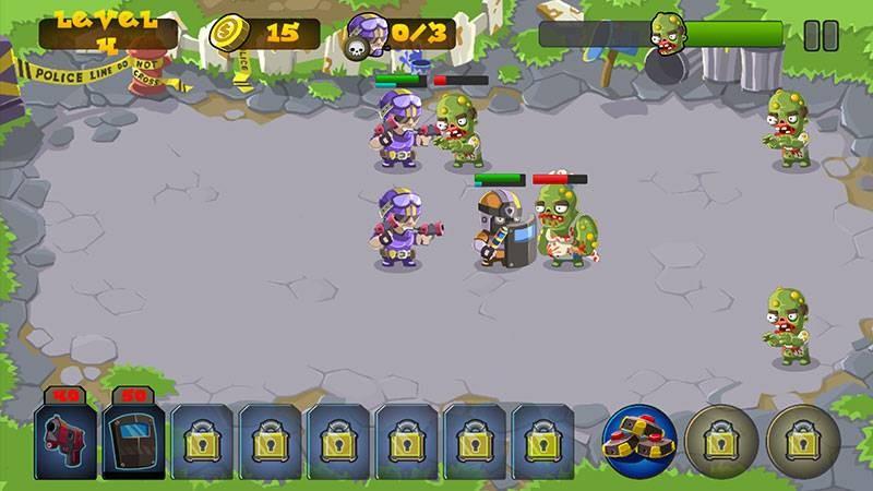 Đặc nhiệm chiến xác sống trong game Zombie cực nhộn