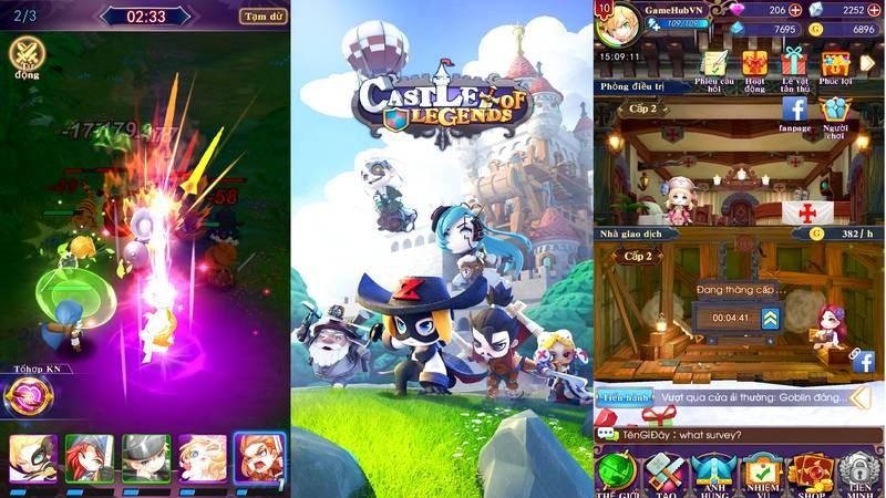 Tải ngay Castle of Legends - RPG khủng hỗ trợ tiếng Việt trên Mobile