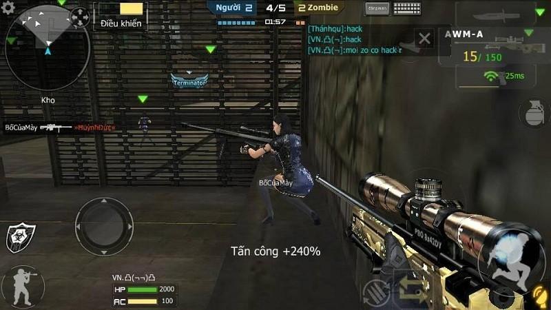 Hoang mang Crossfire Legends/CF Mobile vừa ra bản test đã xuất hiện hack