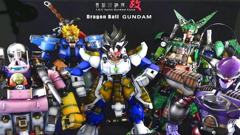 """Khi 7 Viên Ngọc Rồng """"lưỡng long nhất thể"""" với... Gundam"""