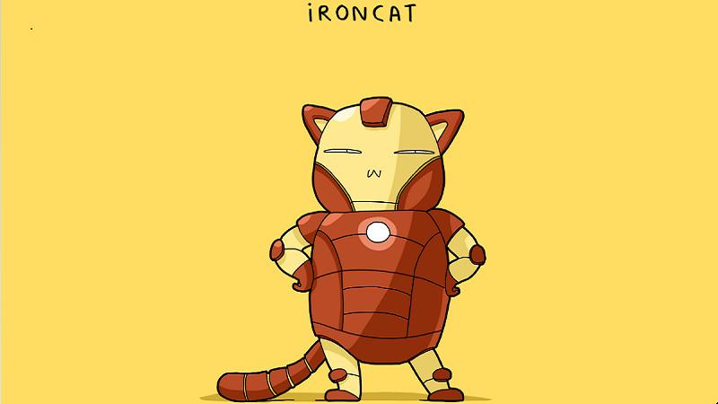 Cười rơi mồm với các siêu anh hùng phiên bản mèo ngố