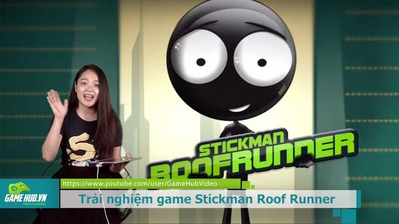 Ai có phản xạ tốt mới chơi được game này mà không ngã sấp mặt - Stickman Roof runner