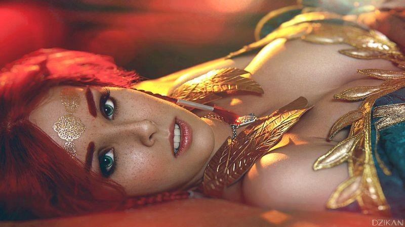 Game thủ The Witcher 3 rơi hàm trước cosplay Triss Merigold quá đỗi sexy
