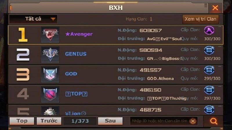 Gặp gỡ Avenger – Clan hạng A đầu tiên trong Crossfire Legends