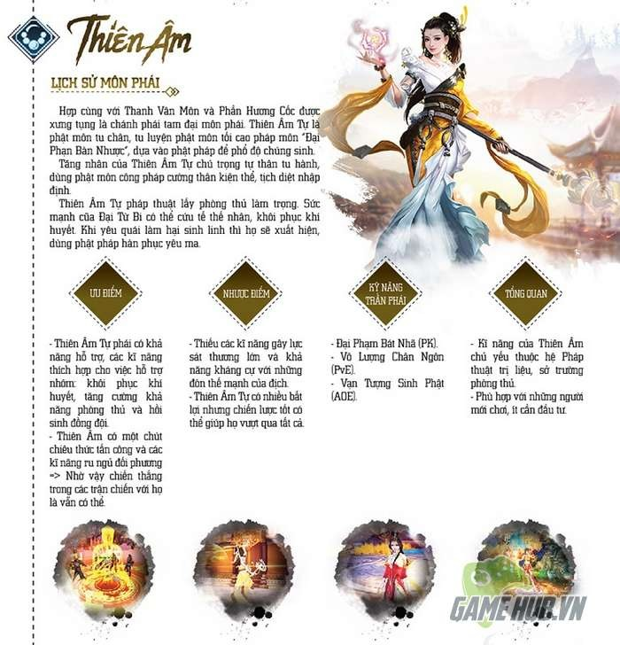 [Infographic] Tổng quan về tứ đại môn phái trong Tru Tiên 3D